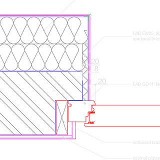 Plan Detail Of Doorjamb For New Door Installed Or Retrofitted Into An Existing Wall With A Single Brick Nib The Show Fixed In Place On