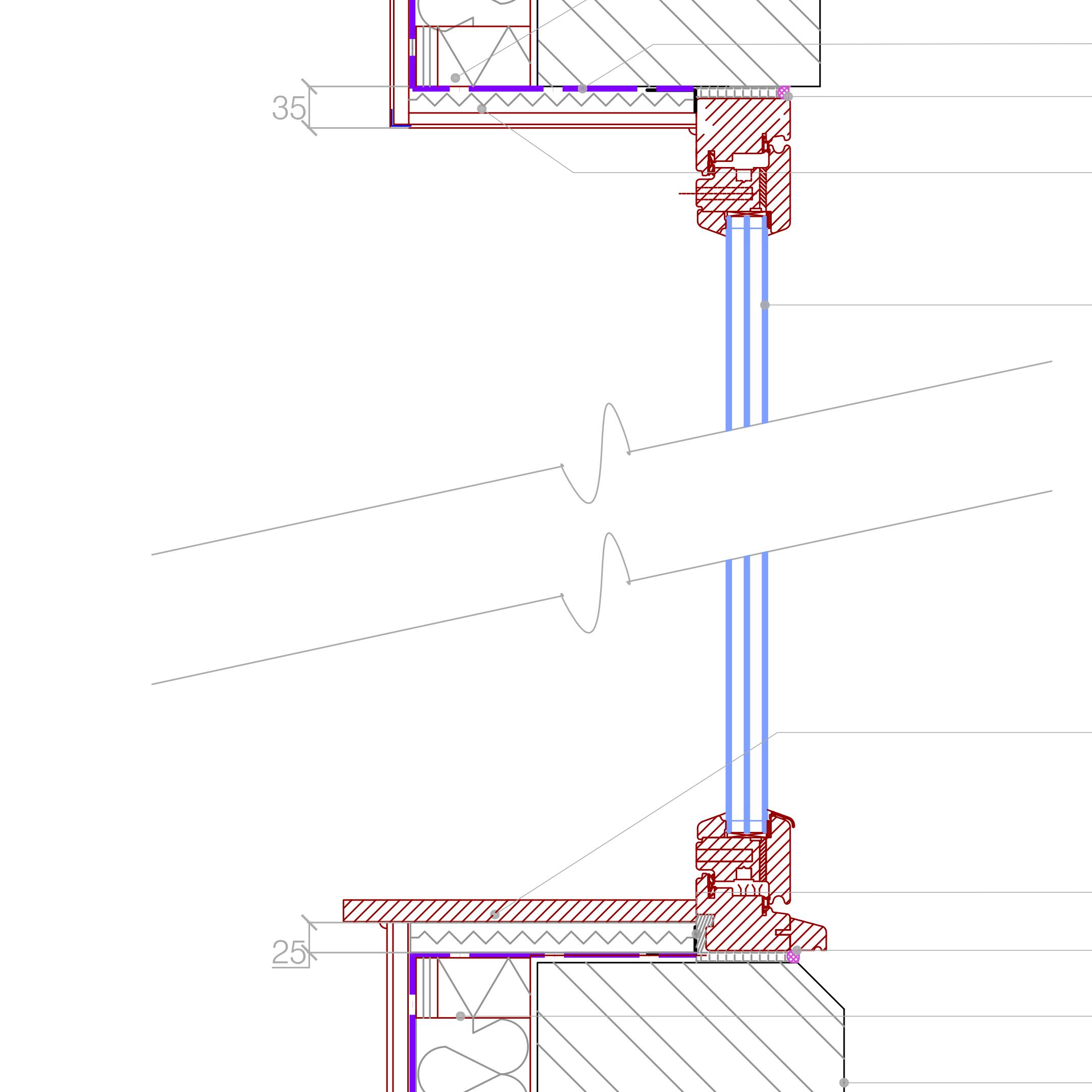 Cad Drawing Iwi To New Triple Double Glazed Window Retrofit Pattern
